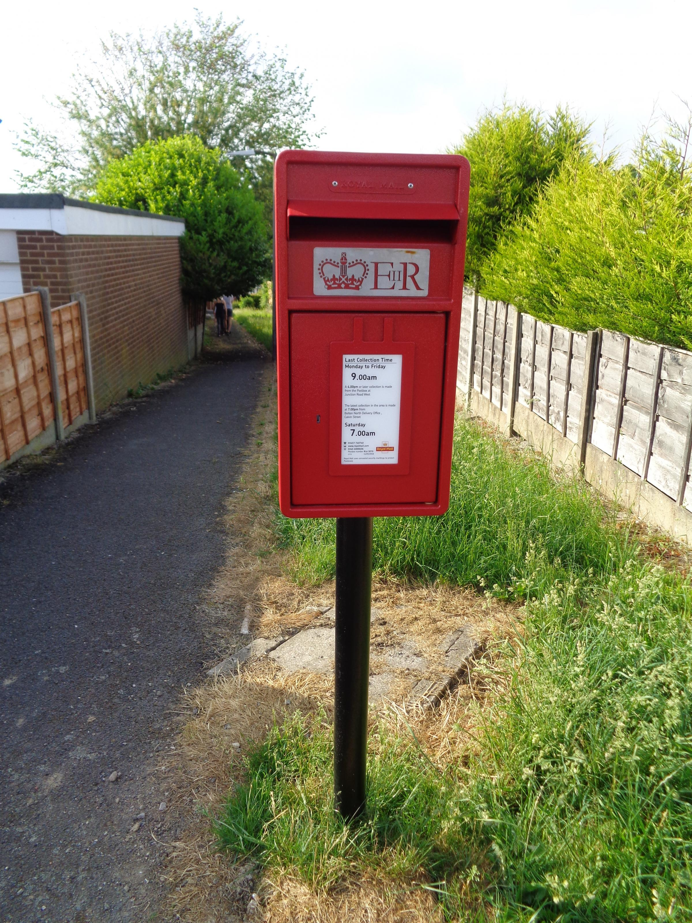 RETURNED: The post box replaced in Kilworth Drive, Lostock