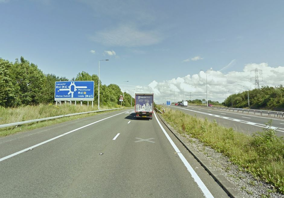 DIVERSIONS: Traffic is being redirected following a crash on the M65. Picture, Google Maps