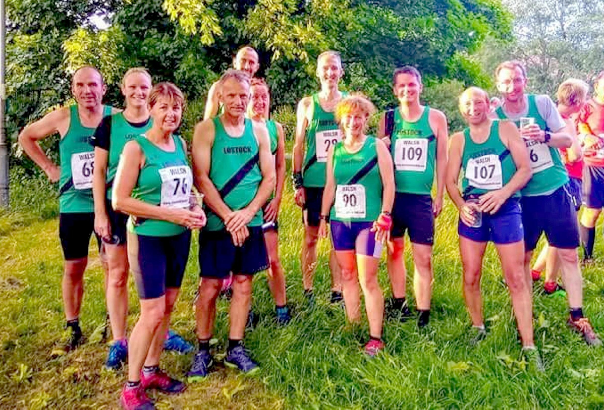 Lostock AC runners at the Two Lads fell race