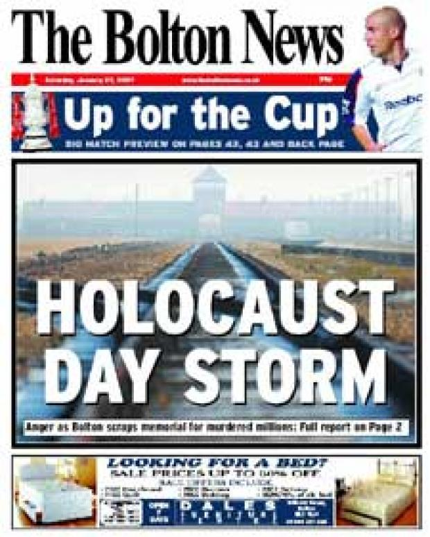 How the decision was revealed on the front page of The Bolton News
