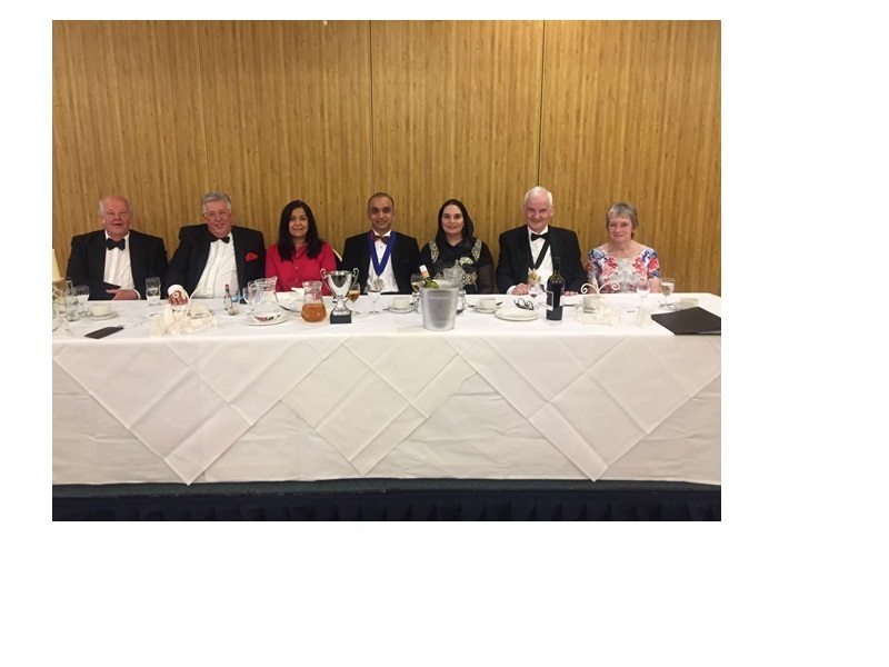 MEAL: The top table at the Law Society event at Last Drop on Friday night