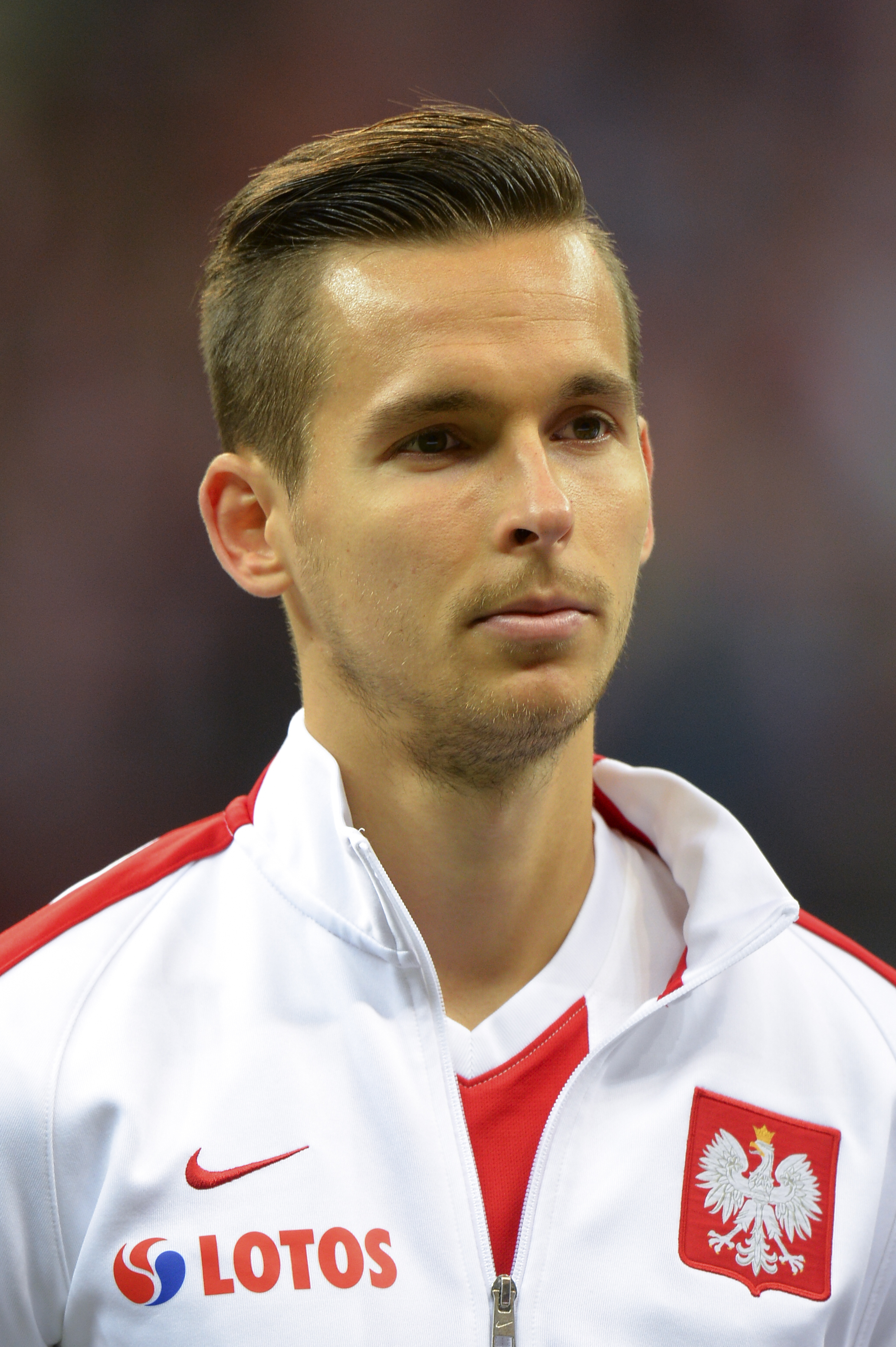Pawel Olkowski in action for Poland in 2015