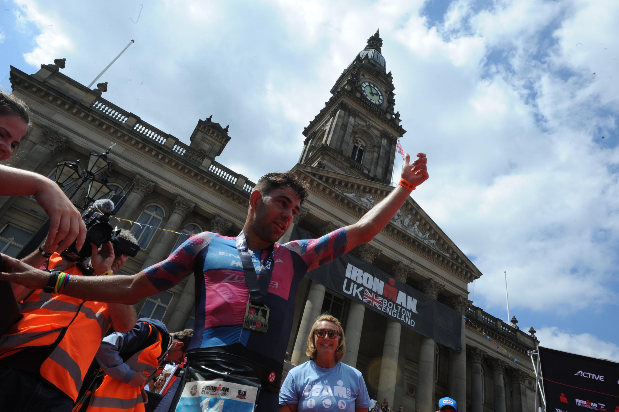Praise for Bolton's 'brutal' Ironman course
