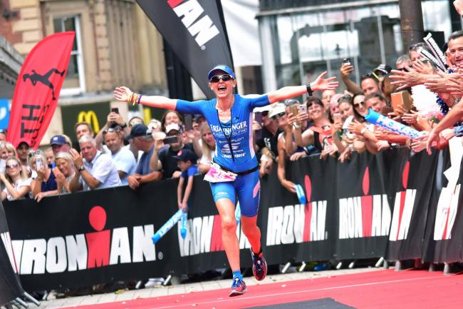 Lucy Gossage, the first woman back in Ironman 2018