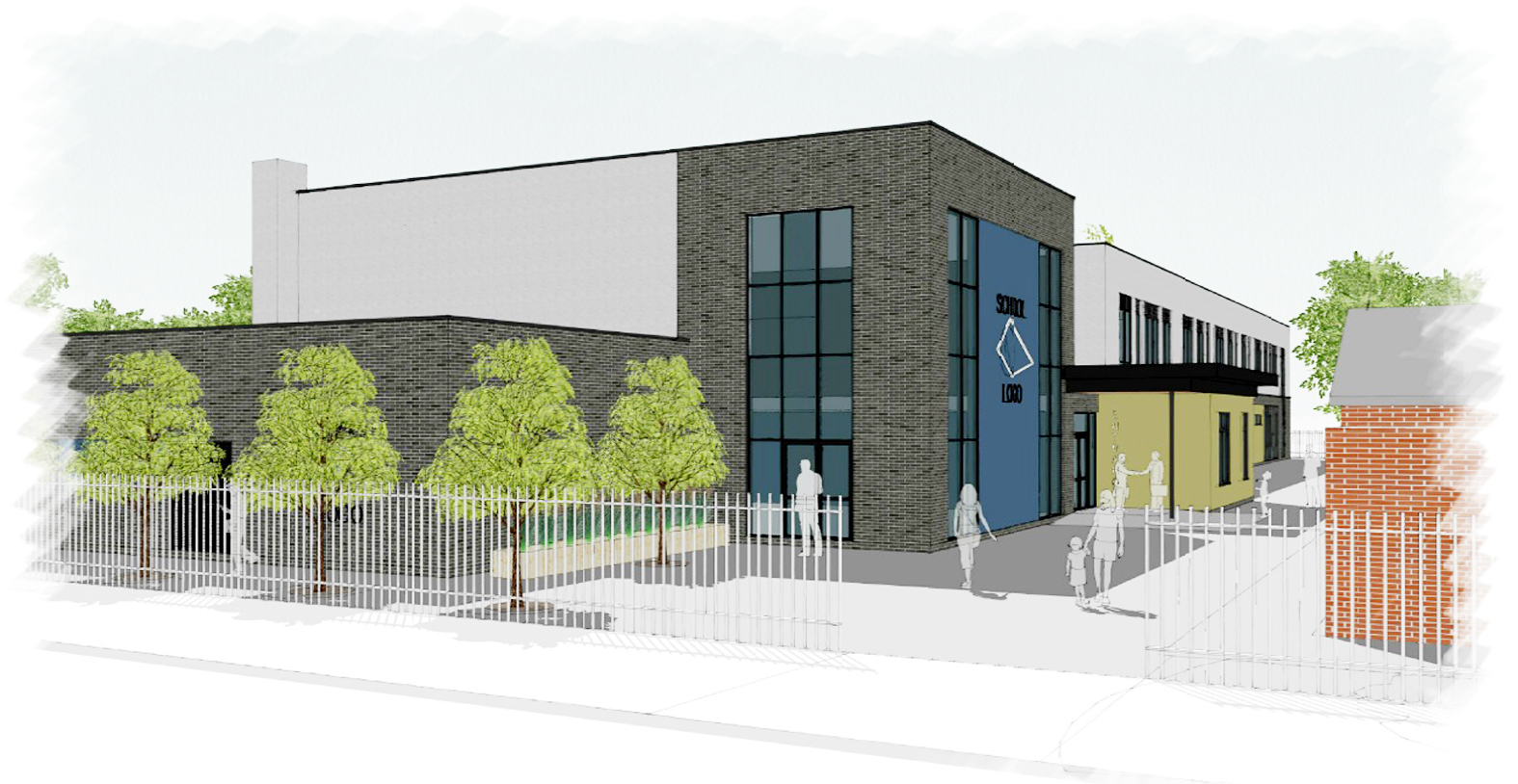Designs for a new free primary school in Great Lever