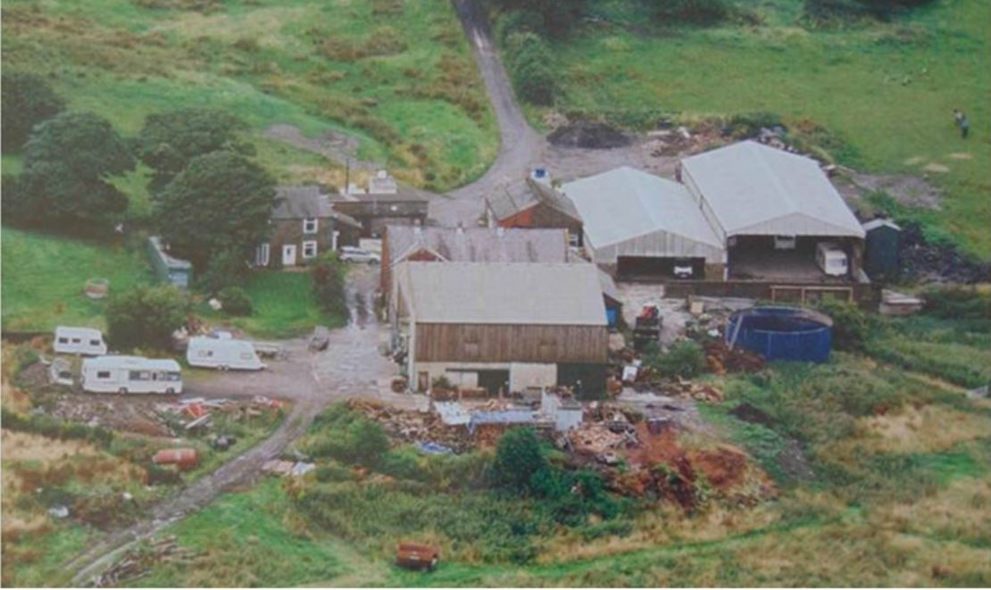 BEFORE: Grundy Fold Farm prior to the luxury homes being built