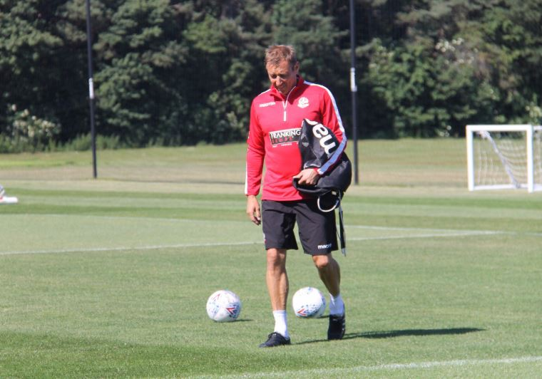 Julian Darby on the training ground with Wanderers