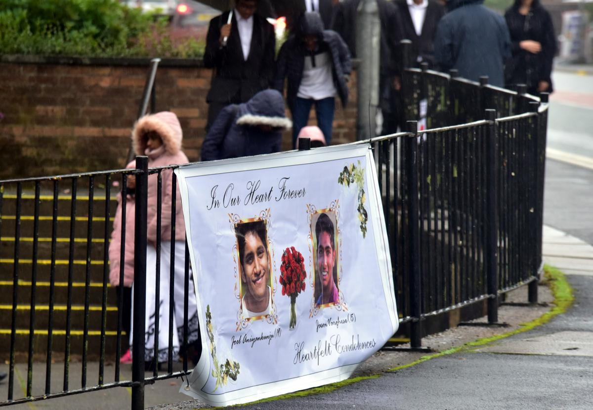 Funeral service of joel aniyankunju and jason varghese takes place hundreds turn out for funeral to bolton cousins killed in austrian lake tragedy izmirmasajfo