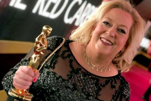 TRIUMPHANT: Julie with her well-earned Oscar