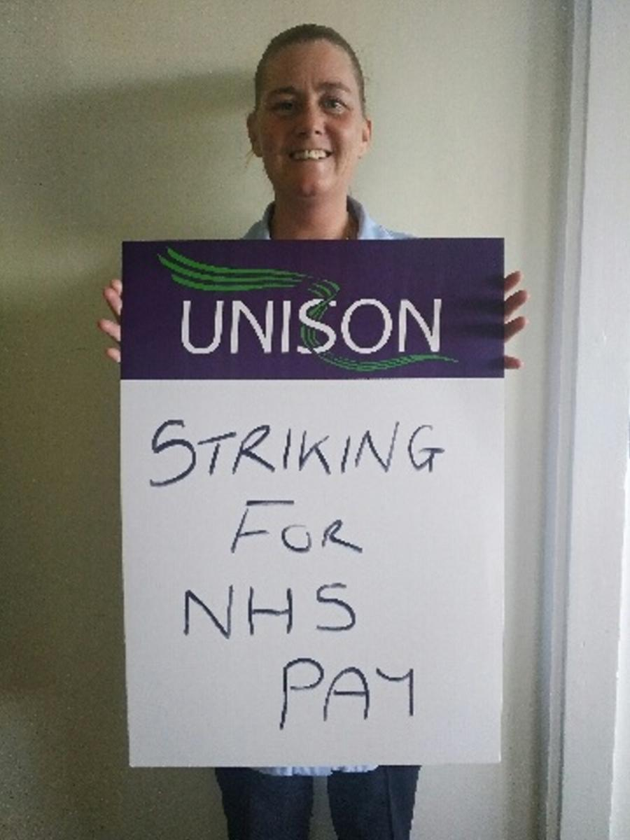 Andrea Lee, domestic at Royal Bolton striking for fairer pay