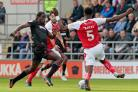 Clayton Donaldson in action for Wanderers against Rotherham United