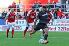 Josh Magennis sees his penalty saved against Rotherham United