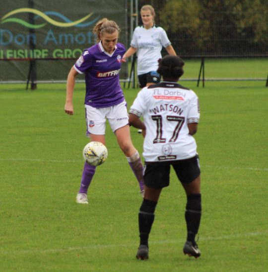 Nicola Worthington was one of the stars of the show in Wanderers' 2-1 victory against Derby County