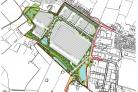 An outline illustrative landscape masterplan of the proposed industrial estate