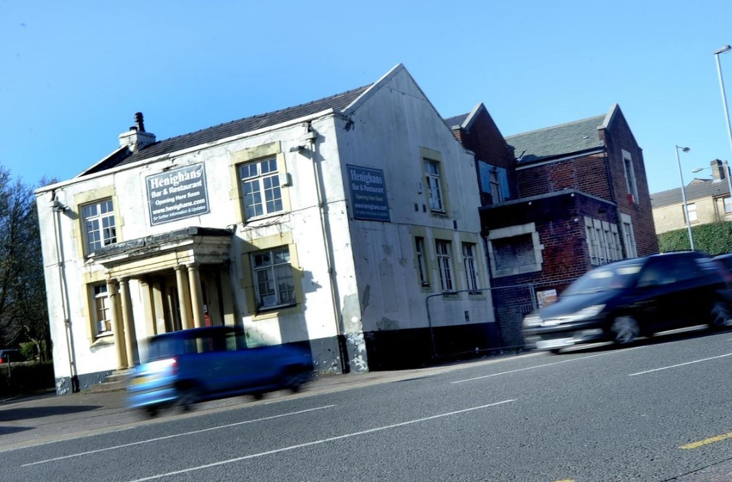 The former Three Pigeons pub in Astley Bridge