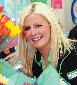 BEAUTY HOPEFUL: Bolton student Kristina Long works at Asda