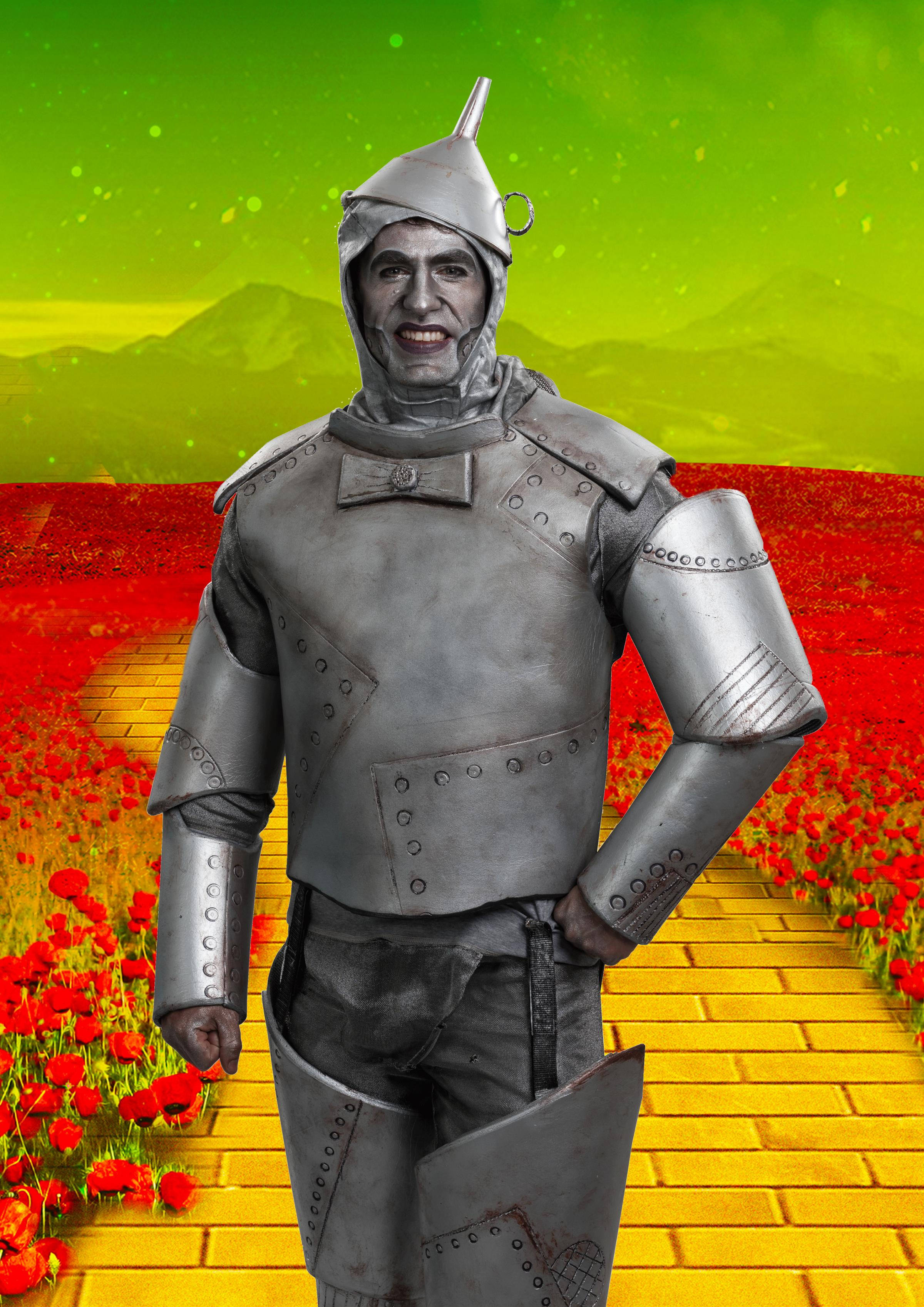 Kelvin Fletcher as the Tin Man in The Wizard of Oz at Blackpool Opera House