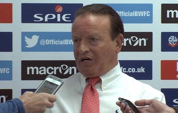Ken Anderson takes answers from the press on his first day at Bolton Wanderers