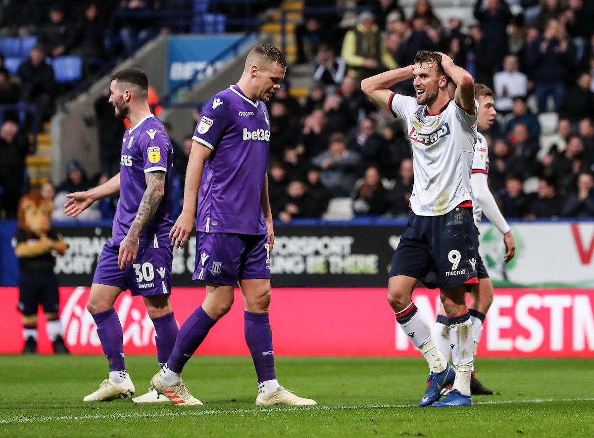 pictures 100 images from bolton s draw with stoke city the