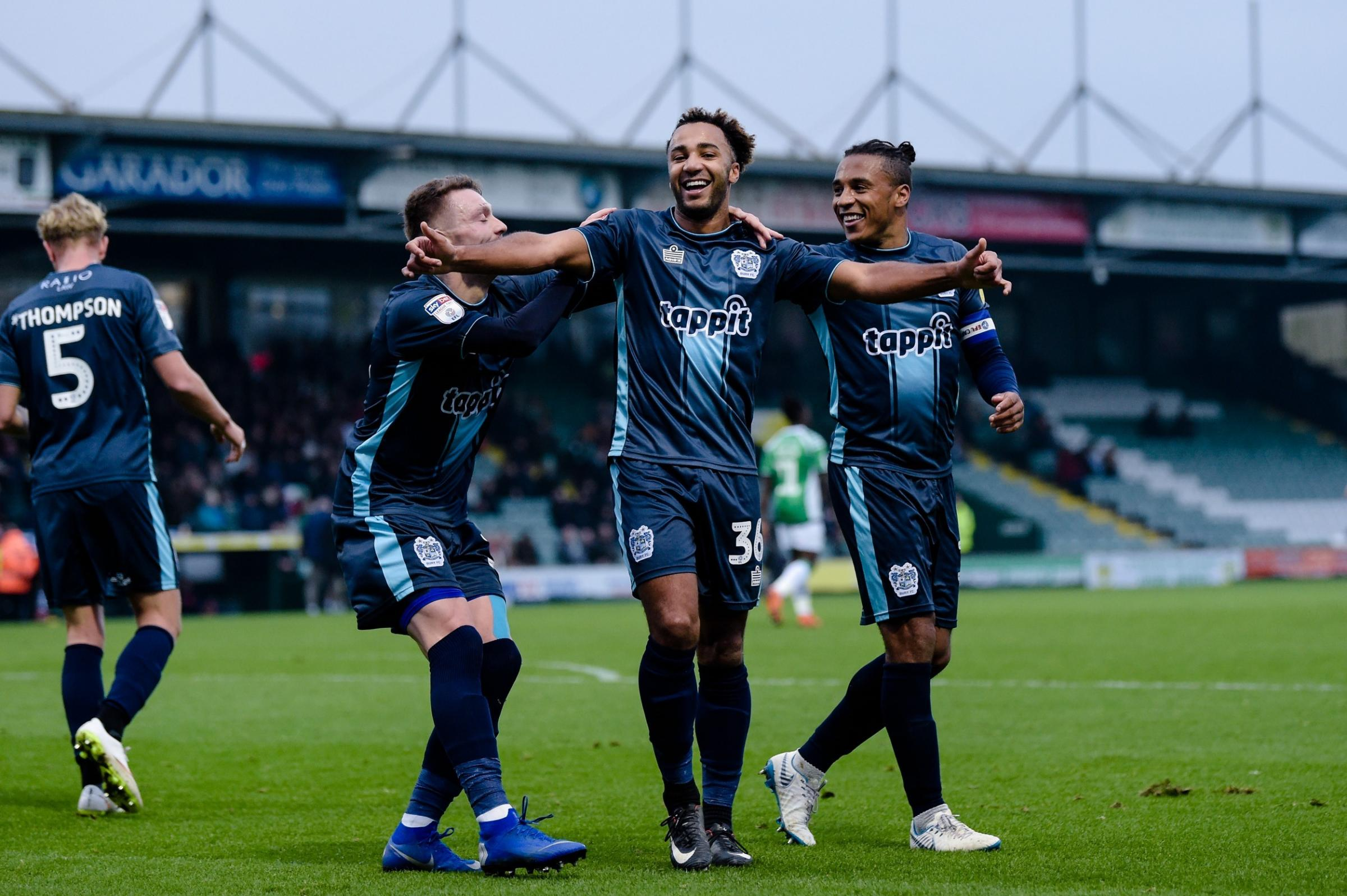 Nicky Maynard celebrates scoring the only goal of the game. Picture by Andy Whitehead Photography