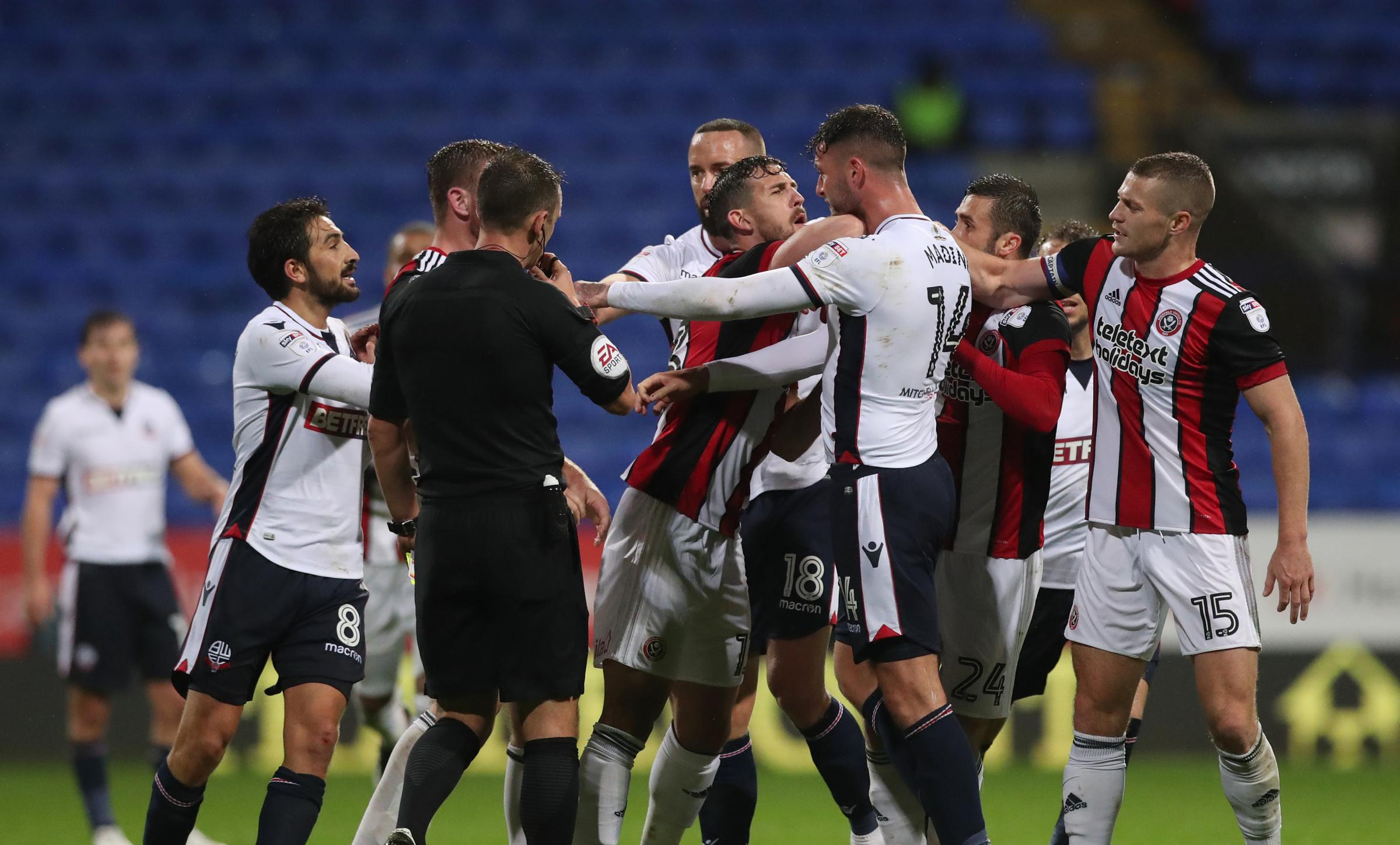 OLD FOES: Tempers have flared for former Wanderer Gary Madine in the past against Sheffield United... but now he has joined the Blades on loan from Cardiff