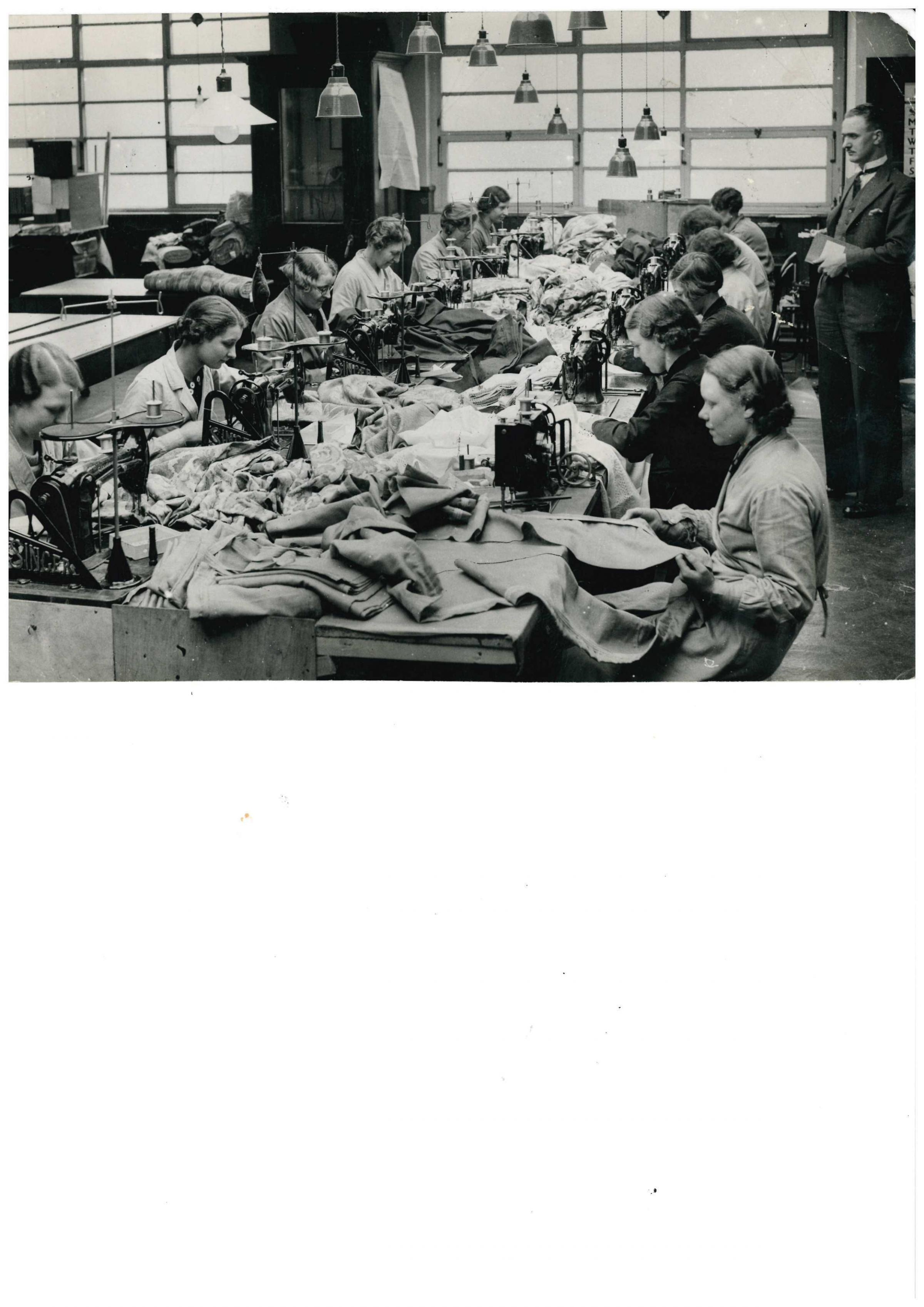 Sewing at Horrocks 1936