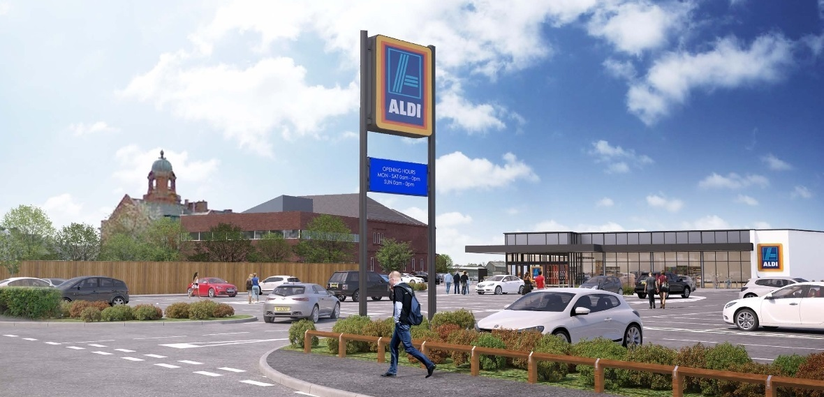 A computer generated image of the Aldi store coming to Westhoughton
