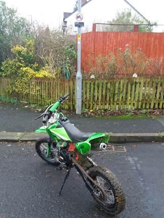 Scrambler bike seized in crackdown on off-road bikers