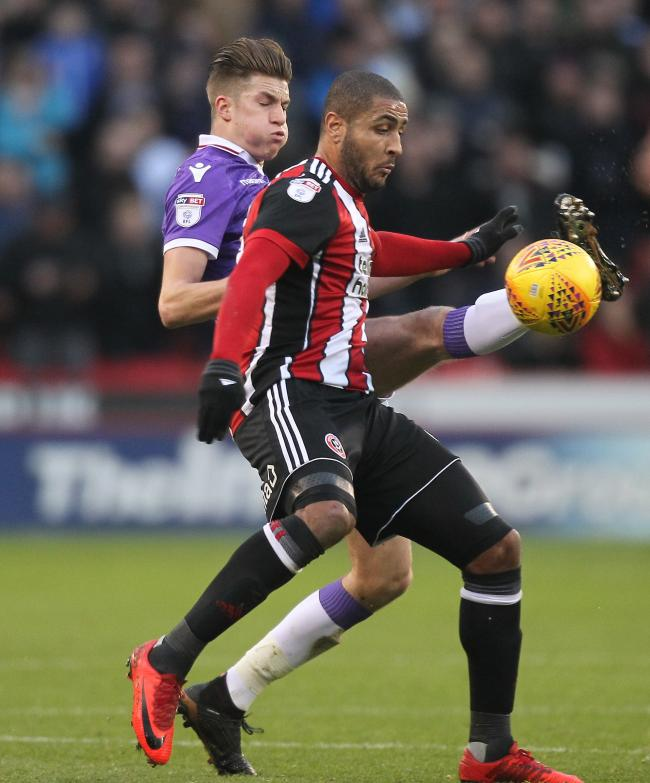 Leon Clarke in action for Sheffield United against Wanderers last season