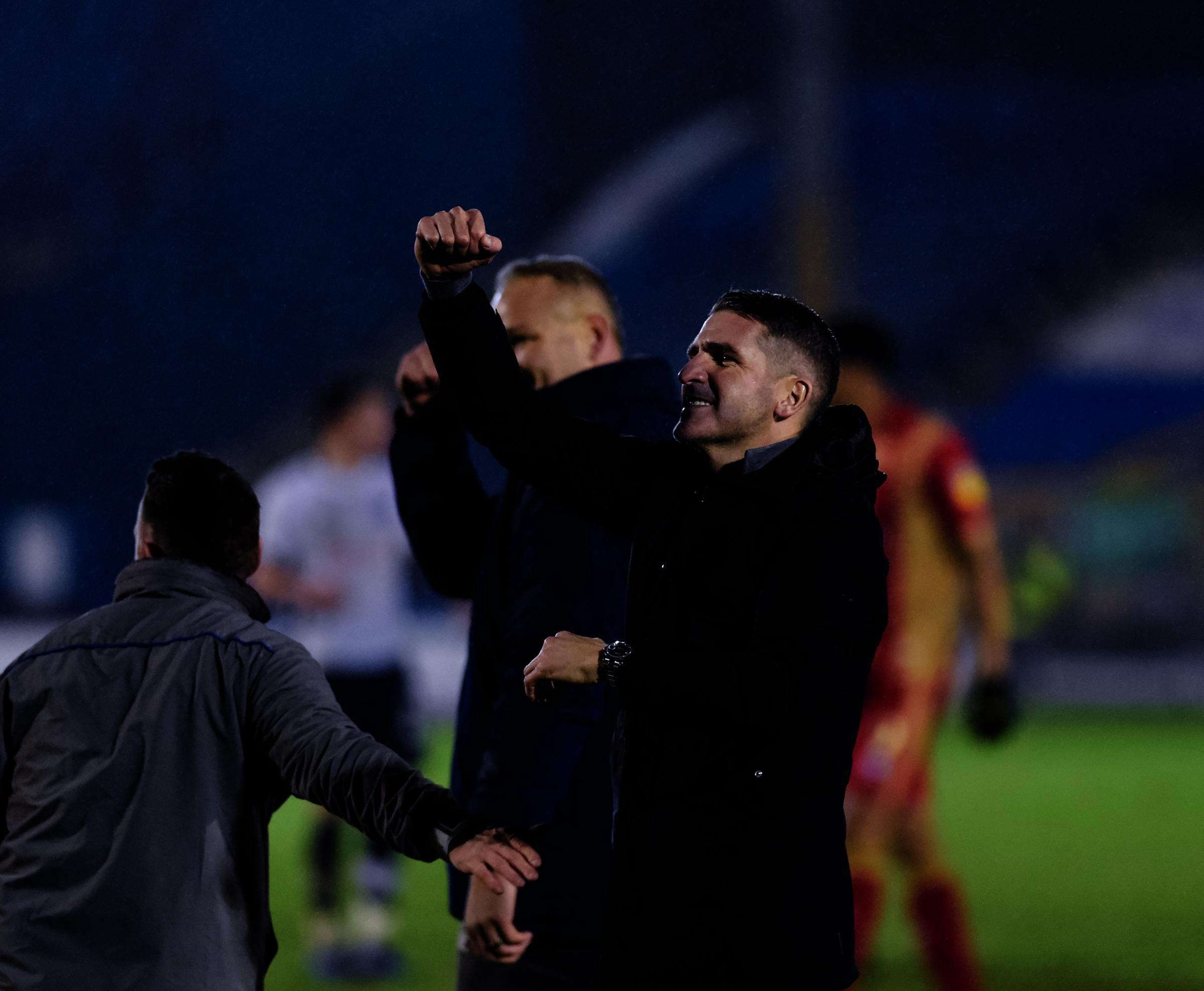 Bury manager Ryan Lowe after the Sky Bet League 2 match between Bury FC and MK Dons at The Energy Check Stadium at Gigg Lane, Bury on Saturday 12th January 2019. Credit: Andy Whitehead..Self-billing applies where appropriate - info@andywhiteheadphotograph