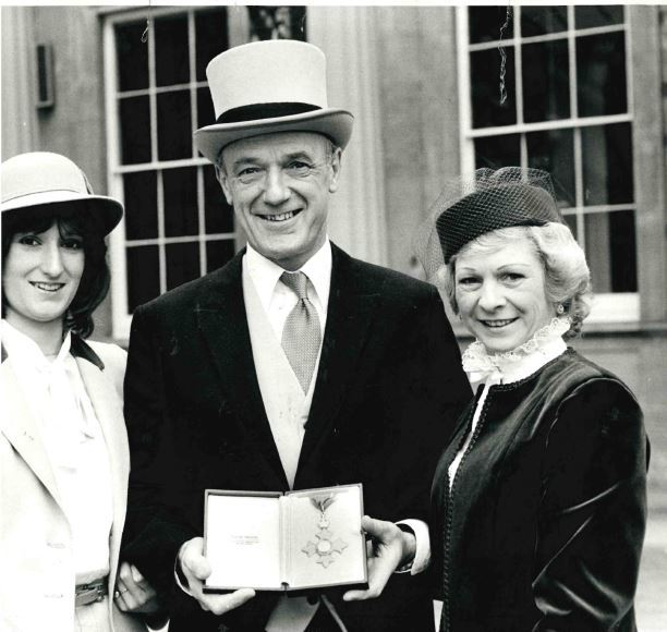 Lindsay, John and Norma Hanscomb in 1981 when he received his CBE