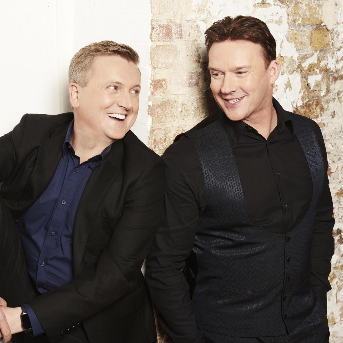 Russell Watson, Aled Jones and JB Gill from boyband JLS to