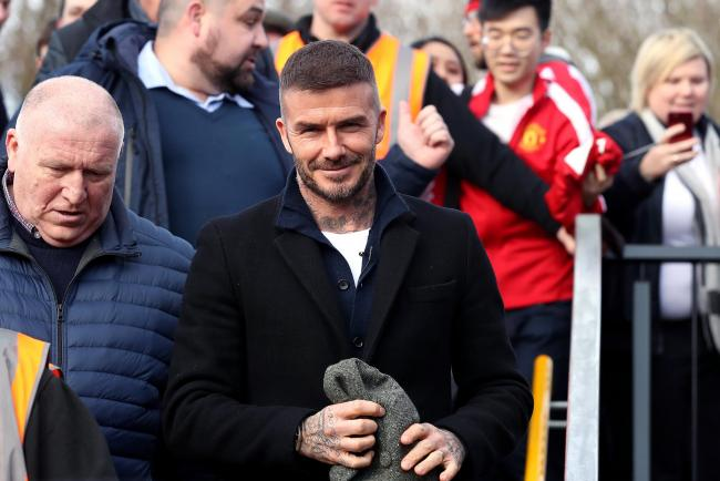 David Beckham was in the stands to watch Dennis Politic score a long-range effort for Salford City