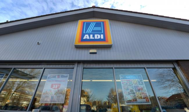 SHOPPING: The budget supermarket Aldi is trialling paper bags. Picture: Anthony Devlin/PA Wire