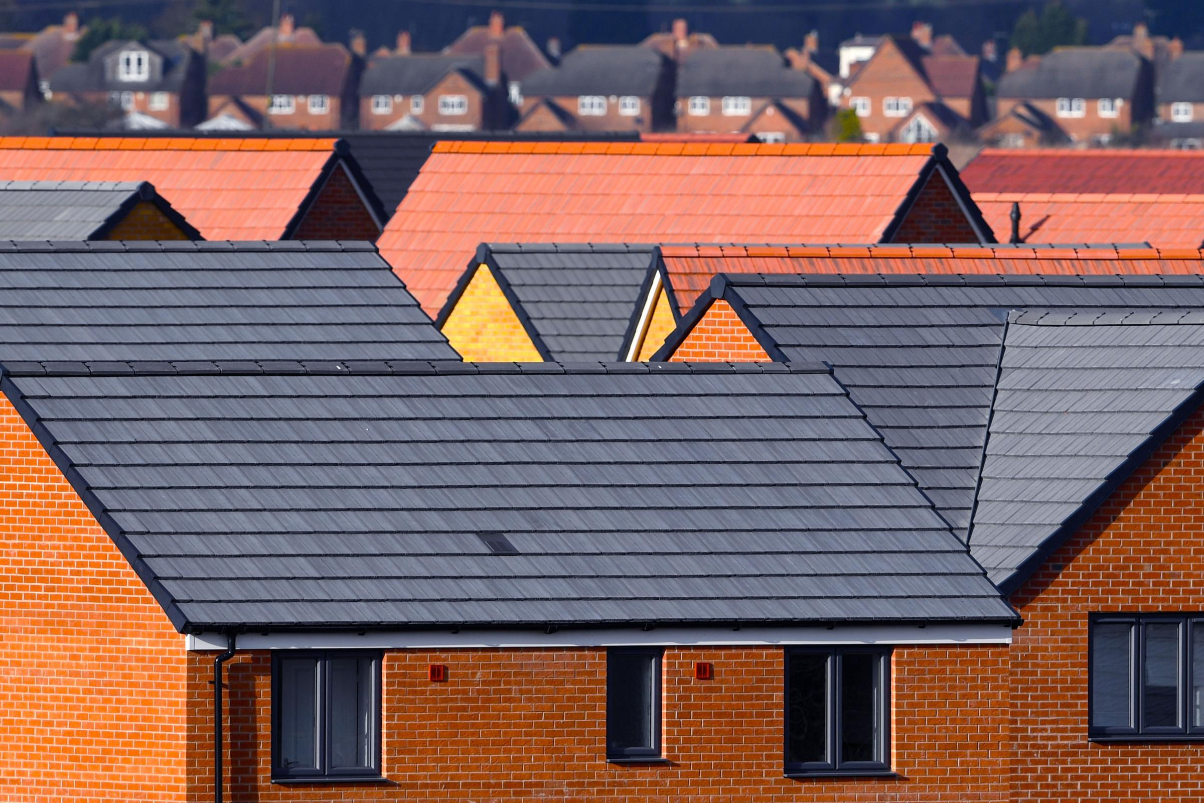 Newly constructed houses. Photo: Joe Giddens/PA Wire.