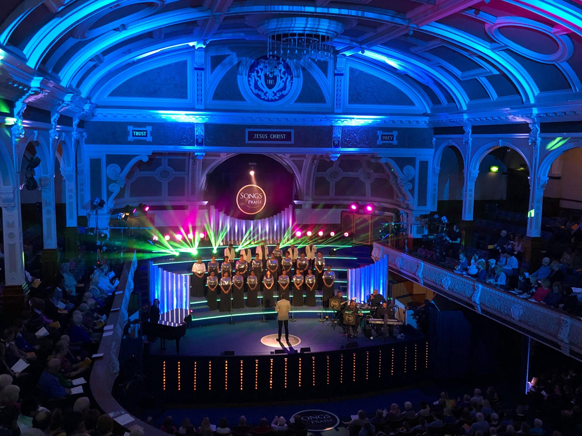 Songs of Praise films in Victoria Hall, Bolton