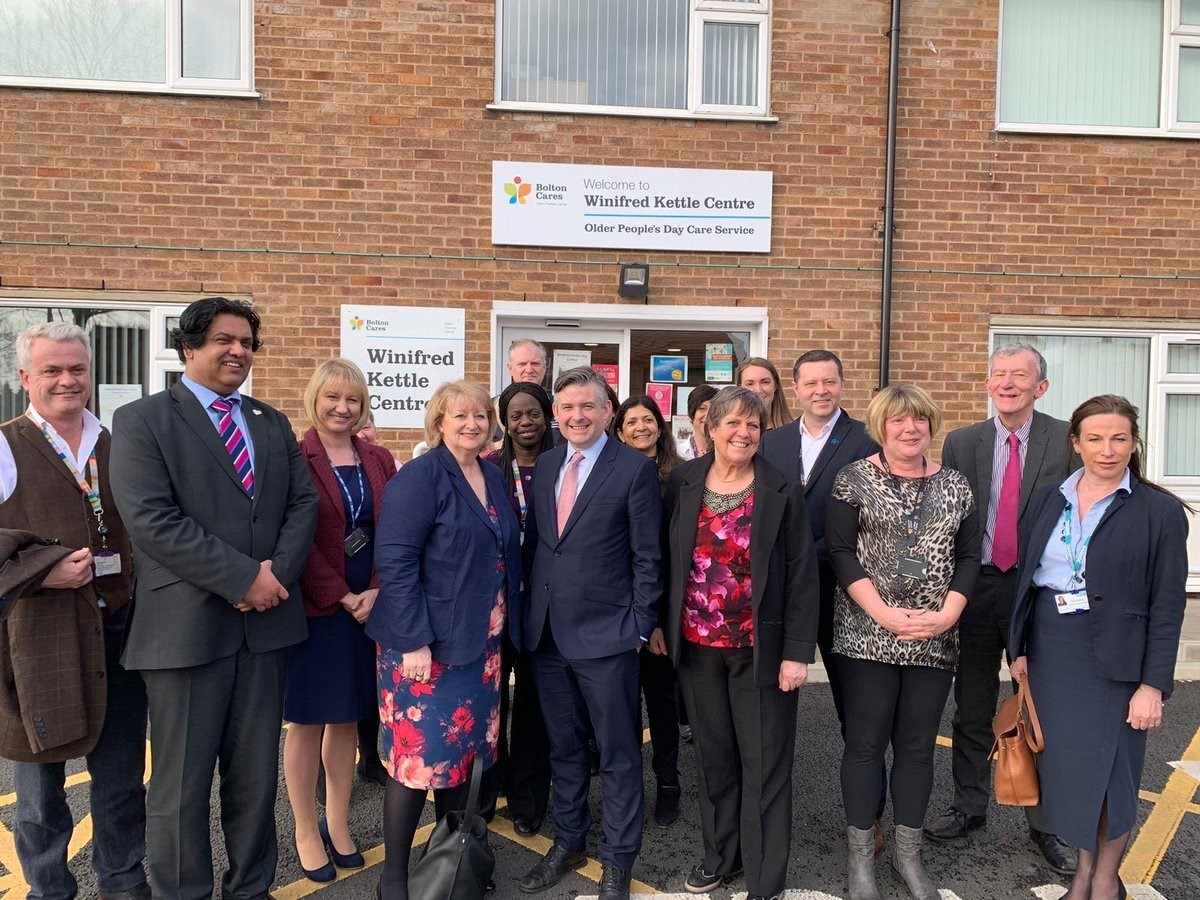 PRAISE: Jonathan Ashworth MP at the Winifred Kettle Centre