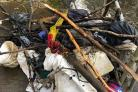 RUBBISH: Debris cleared from the River Croal. Picture: David Bendle