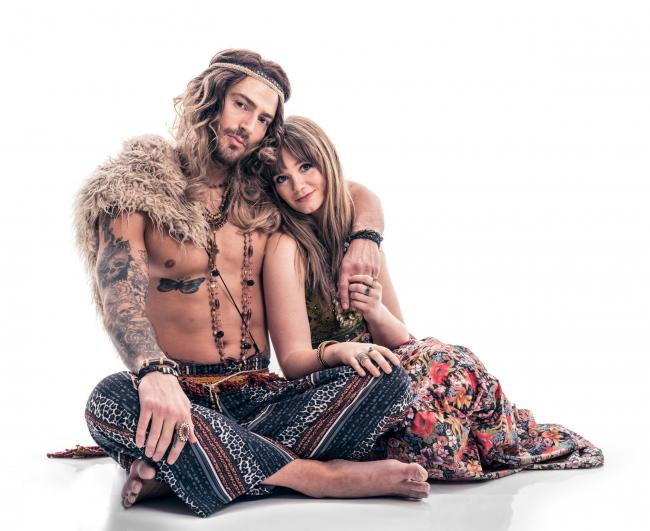 Jake Quickenden and Daisy Wood-Davis in Hair 