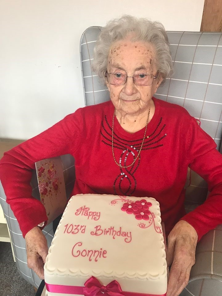 BIRHDAY: Constance Longworth, aged 103
