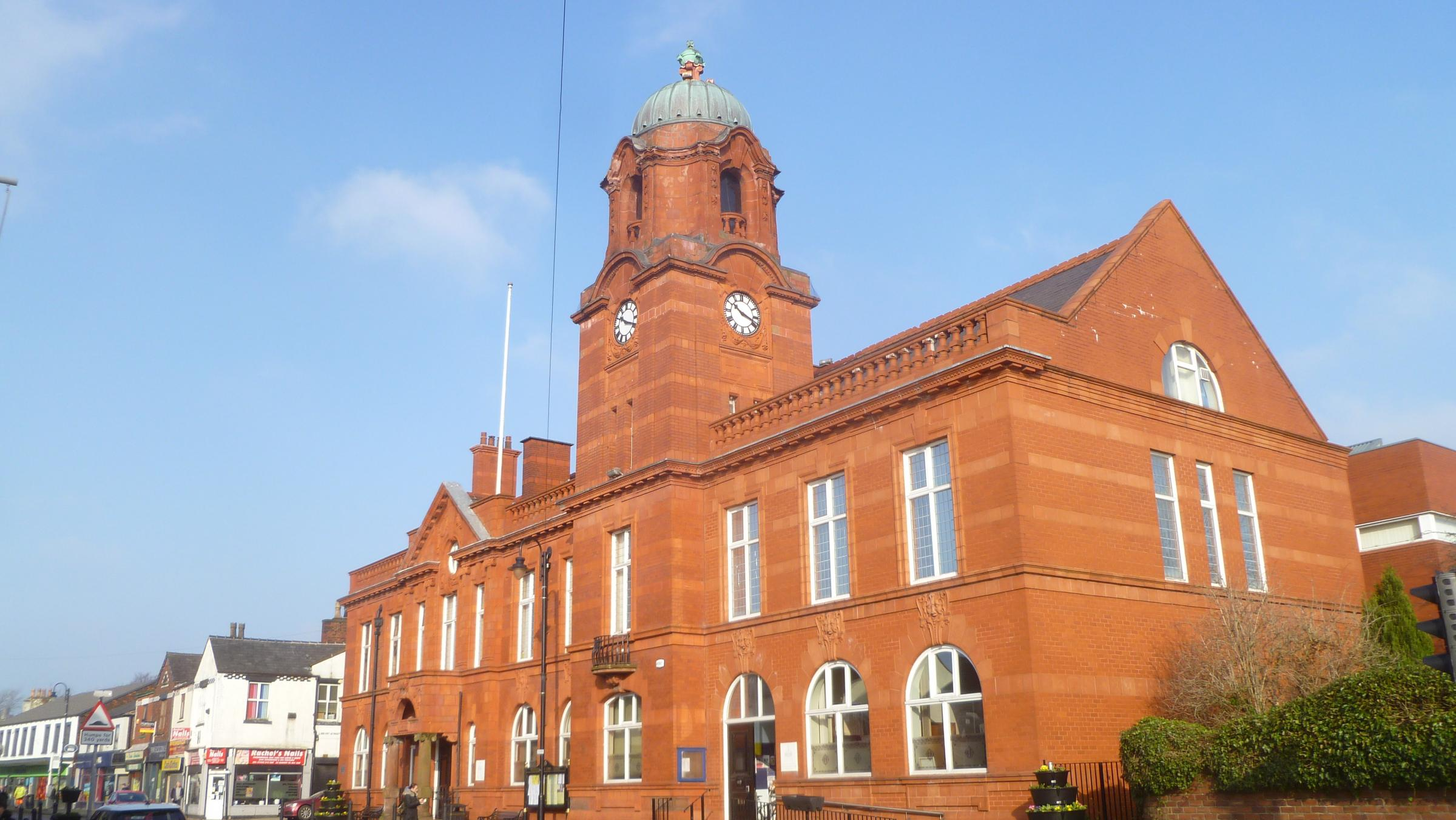 Westhoughton Town Hall taken on a sunny Monday morning...Ted Wisedale..
