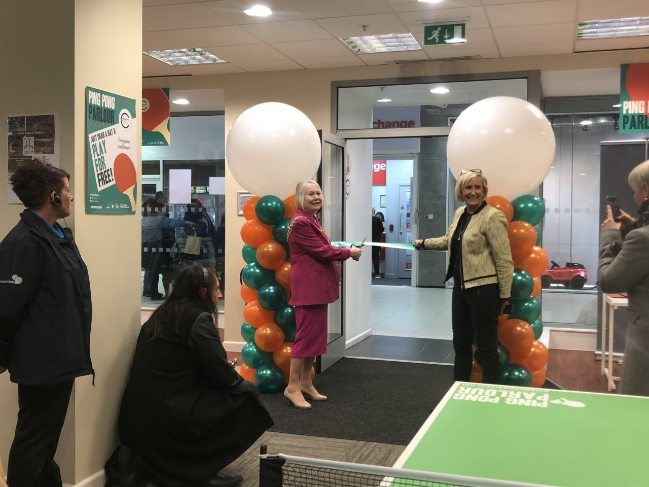 Champ Andrea Holt launches new ping pong parlour in Crompton Place