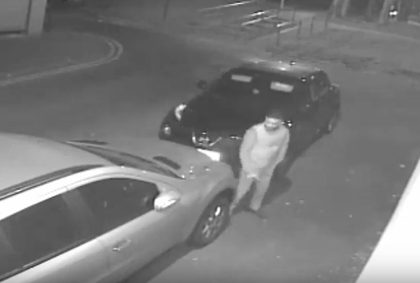 Police want to speak to this man after a car was set on fire