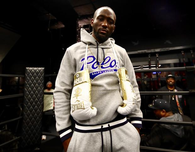 The Bolton News: Terence Crawford ahead of his public workout. Picture: Mikey Williams /Top Rank