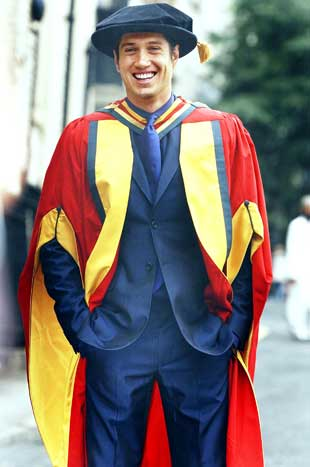 A happy homecoming for graduate Vernon Kay