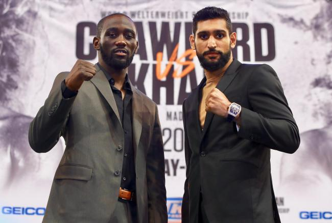 READY: Terence Crawford, left, and Amir Khan ahead of tonight's showdown in New York. Picture by Mikey Williams/Top Rank