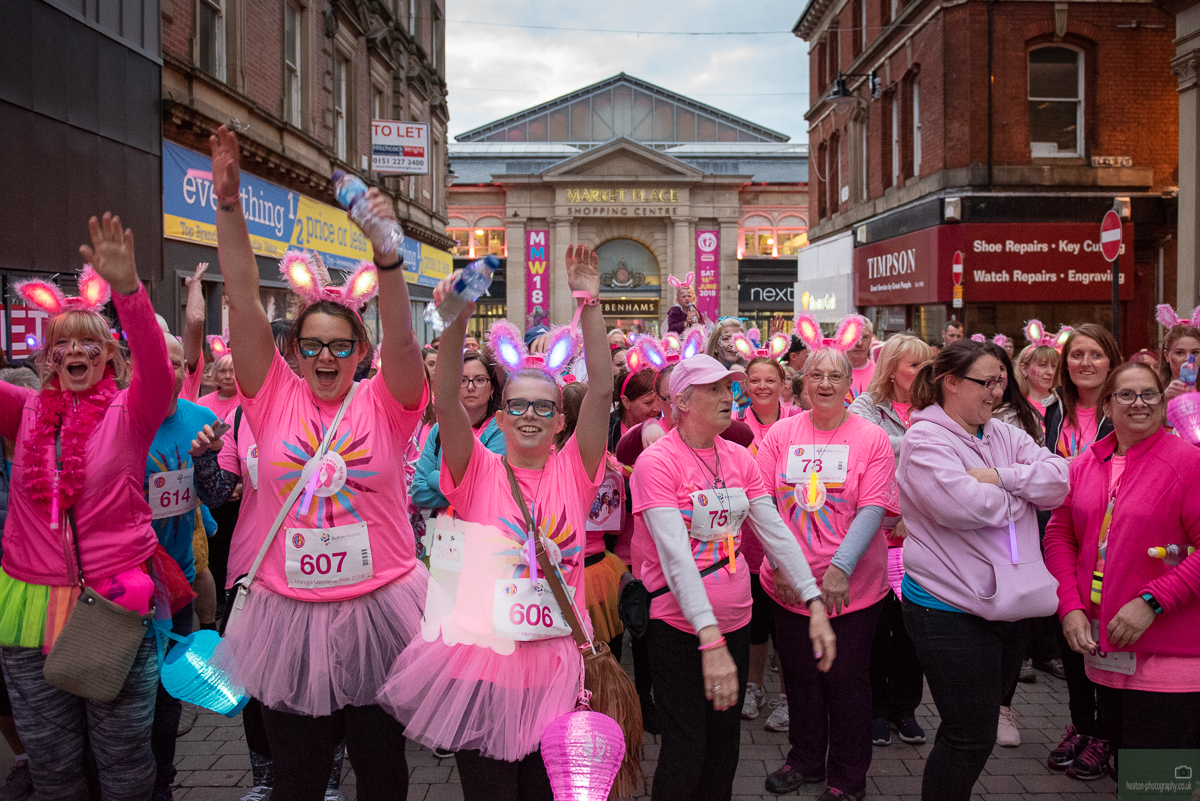 More than 850 walkers took part in Midnight Memories in 2018