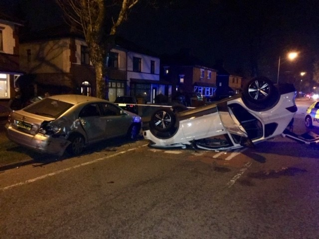The scene of the crash in Bury Road, Radcliffe