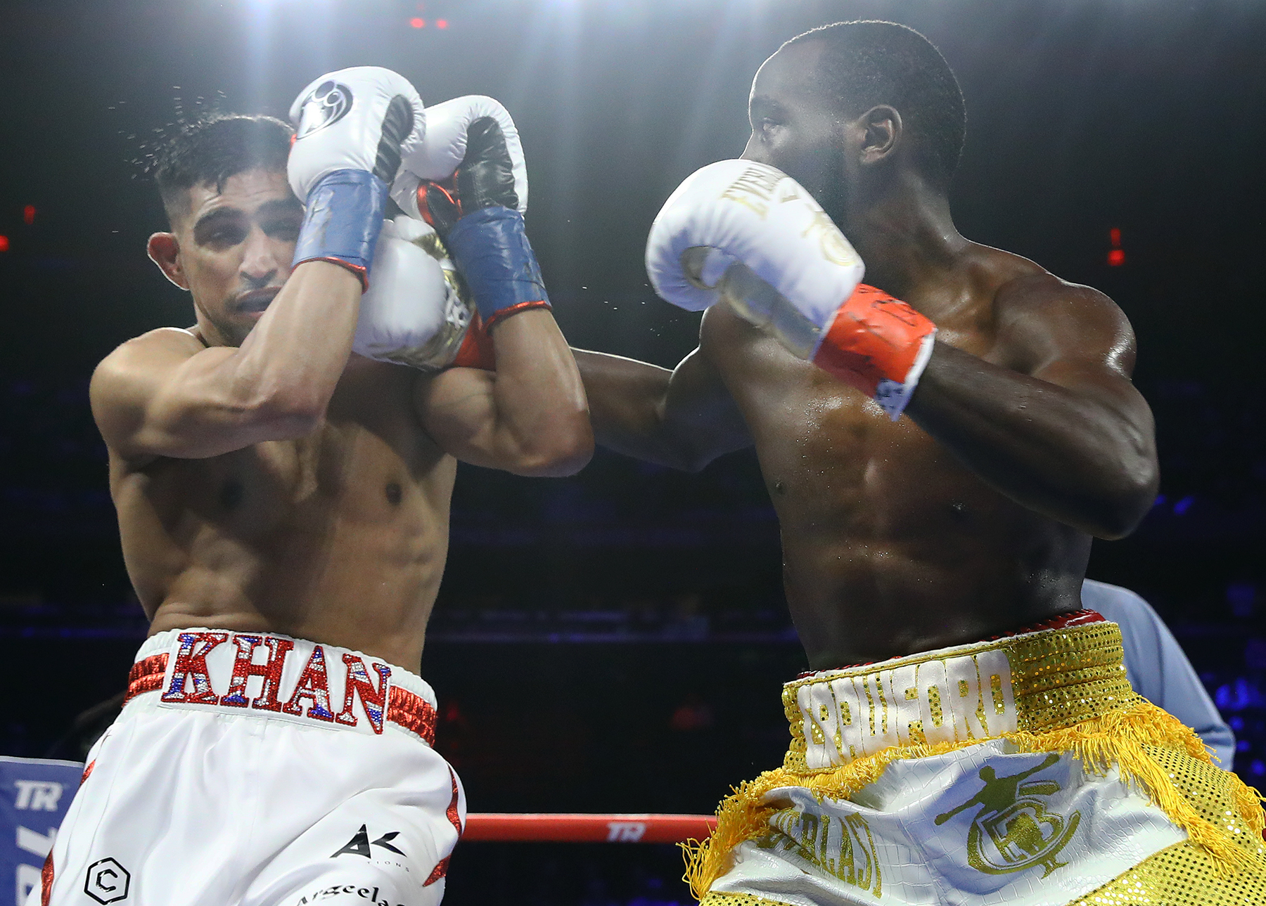 Amir Khan has some big decisions to make after his defeat to Terence Crawford. Picture: Mikey Williams/Top Rank
