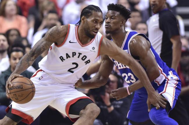 c105bc4685f Leonard leads the way as Toronto Raptors rout Philadelphia 76ers ...